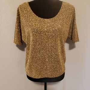 Express Gold Top Sz XS Lite & Airy Dolman Like New